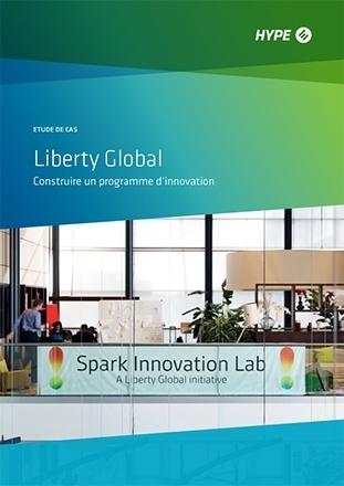 première page de l'étude de cas sur Liberty Global et son programme d'innovation participative