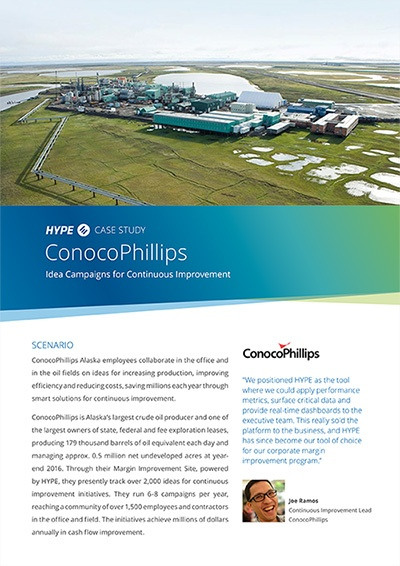 cover page of the ConocoPhillips' case-study