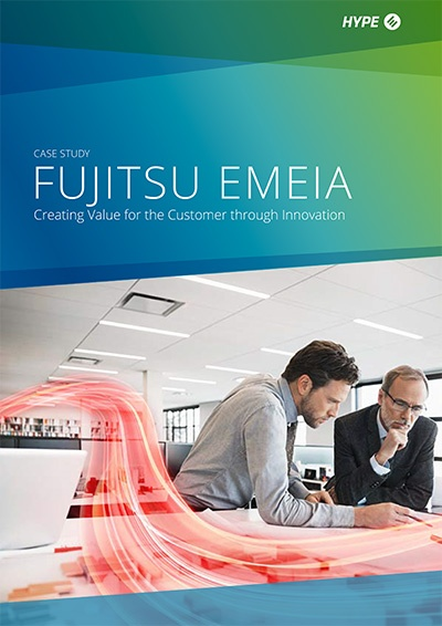 Cover page of Fujitsu's case-study
