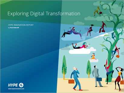 Cover of the exploring digital transformation report