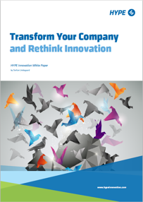 cover page of the report rethink innovation